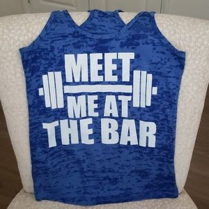 Meet Me At The Bar Weightlifting Tank Top